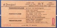 "Disneyland Fantasyland's ""Peter Pan"" 15x26 Custom Framed Print Display with Vintage 1960s ""D"" Ride Adult Ticket & Peter Pan Lapel Pin at PristineAuction.com"