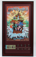 "Disneyland ""Splash Mountain"" 15x26 Custom Framed Print Display with Vintage Ticket Booklet & Complete Set of (8) Splash Mountain Coins (See Description) at PristineAuction.com"