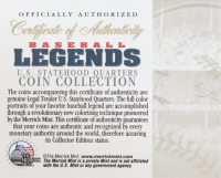 Ted Williams Signed 20x26 Custom Framed Photo Display with (3) Ted Williams Colorized Coins (Ted Williams COA) at PristineAuction.com