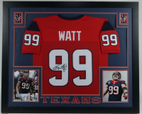 J. J. Watt Signed 36x43 Custom Framed Jersey Display (JSA COA) (See Description) at PristineAuction.com