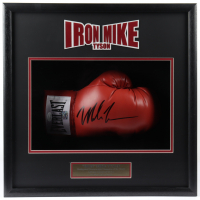 Mike Tyson Signed 19.5x19.5x5 Custom Framed Shadowbox Display (JSA COA & Fiterman Sports Hologram) (See Description) at PristineAuction.com