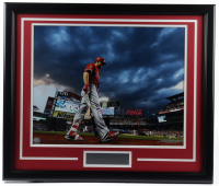 Mike Trout Angels 22x26 Custom Framed Photo Display at PristineAuction.com