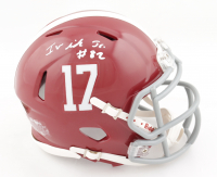 Irv Smith Jr. Signed Alabama Crimson Tide Speed Mini Helmet (Beckett COA) at PristineAuction.com