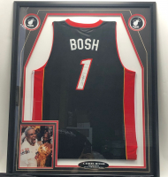 Chris Bosh Signed 35x42 Custom Framed Jersey Display (JSA COA) at PristineAuction.com