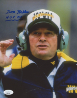"Don Nehlen Signed West Virginia Mountaineers 8x10 Photo Inscribed ""H.O.F. 05"" (Beckett COA) at PristineAuction.com"