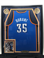Kevin Durant Signed Thunder 35x42 Custom Framed Jersey Display (JSA COA) (See Description) at PristineAuction.com
