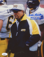 "Don Nehlen Signed West Virginia Mountaineers 8x10 Photo Inscribed ""H.O.F. 05"" (JSA COA) at PristineAuction.com"