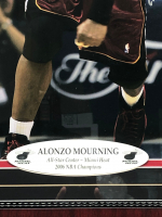 Alonzo Mourning Signed Lakers 25x25 Custom Framed Photo Display (JSA COA) at PristineAuction.com