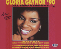 "Gloria Gaynor Signed ""Gloria Gaynor '90 (All New Versions)"" 8x10 Photo (Beckett COA) at PristineAuction.com"