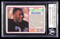 Bo Jackson Signed 1989 Score Supplemental #384S (BGS Encapsulated) at PristineAuction.com