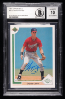 Chipper Jones Signed 1991 Upper Deck #55 RC (BGS Encapsulated) at PristineAuction.com