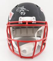 Travis Kelce Signed Chiefs Full-Size AMP Alternate Speed Helmet (Beckett COA) (See Description) at PristineAuction.com
