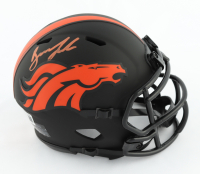 Drew Lock Signed Broncos Eclipse Alternate Speed Mini Helmet (Beckett Hologram) at PristineAuction.com
