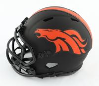 Drew Lock Signed Broncos Eclipse Alternate Speed Mini Helmet (Beckett Hologram) at PristineAuction.com