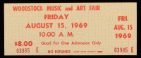 Woodstock Authentic Three Day Unused Ticket from August 15th, 1969 at PristineAuction.com