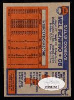 """Mel Renfro Signed 1976 Topps #368 Inscribed """"HOF 86"""" (JSA Hologram) at PristineAuction.com"""