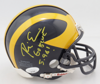 "Rich Eisen Signed Michigan Wolverines Mini Helmet Inscribed ""Go Blue!"" & ""5.94!"" (JSA COA) (See Description) at PristineAuction.com"