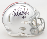 Justin Fields Signed Ohio State Buckeyes Speed Mini Helmet (JSA COA) (See Description) at PristineAuction.com