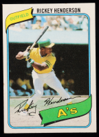 Rickey Henderson 1980 Topps #482 RC at PristineAuction.com