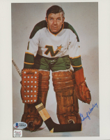 Gump Worsley Signed North Stars 8x10 Photo (Beckett COA & Autograph Reference Hologram) at PristineAuction.com