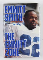 "Emmitt Smith Signed ""The Emmitt Zone"" Hardcover Book (Beckett COA) (See Description) at PristineAuction.com"