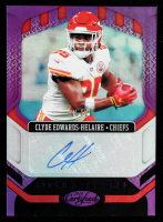 Clyde Edwards-Helaire 2020 Certified Rookie Roll Call Signatures Mirror Purple #13 #05/10 at PristineAuction.com