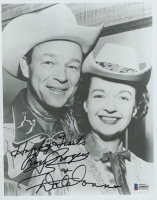 "Roy Rogers & Dale Evans Signed ""The Roy Rogers Show"" 8x10 Photo Inscribed ""Happy Trails"" (Beckett COA) at PristineAuction.com"