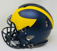 Tom Brady Signed Michigan Wolverines Full-Size Authentic On-Field Speed Helmet (Fanatics Hologram) at PristineAuction.com