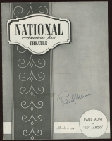 "Paul Muni Signed ""Key Largo"" 1940 National Theater Program (Beckett COA) (See Description) at PristineAuction.com"