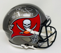 "Tom Brady Signed Buccaneers Super Bowl LV Full-Size Authentic On-Field Speed Helmet Inscribed ""SB LV Champs"" (Fanatics Hologram) at PristineAuction.com"