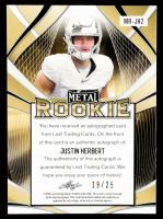 Justin Herbert 2020 Leaf Metal Rookie Blue #MRJH2 #19/25 at PristineAuction.com