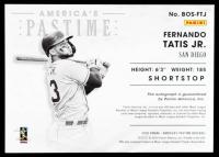 Fernando Tatis Jr. 2020 Panini America's Pastime Boys of Summer #8 #43/49 at PristineAuction.com