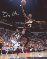 Gary Payton Signed SuperSonics 8x10 Photo (PSA Hologram) at PristineAuction.com