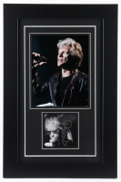 "Jon Bon Jovi Signed 15x23 Custom Framed Bon Jovi ""2020"" Album Photo Display (JSA COA) at PristineAuction.com"
