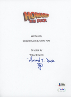 "Ed Gale Signed ""Howard The Duck"" Movie Script Cover Inscribed ""Howard T. Duck"" (Beckett COA & PSA Hologram) at PristineAuction.com"