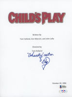 "Ed Gale Signed ""Child's Play"" Movie Script Cover Inscribed ""Chucky-Actor"" (Beckett COA & PSA Hologram) at PristineAuction.com"