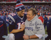 "Bill Belichick Signed Patriots 8x10 Photo Inscribed ""Pats"" (Beckett Hologram) at PristineAuction.com"