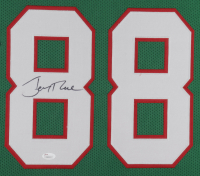 Jerry Rice Signed 35x43 Custom Framed Jersey (JSA COA) at PristineAuction.com