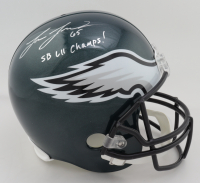 "Lane Johnson Signed Eagles Full-Size Helmet Inscribed ""SB LII Champs!"" (JSA COA) (See Description) at PristineAuction.com"
