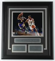 Kobe Bryant & Allen Iverson 16.5x18.5 Custom Framed Photo Display (See Description) at PristineAuction.com