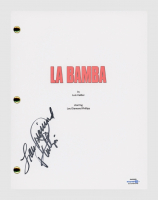 "Lou Diamond Phillips Signed "" La Bamba"" Full Movie Script (AutographCOA COA) at PristineAuction.com"