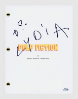 "Amanda Plummer Signed ""Pulp Fiction"" Movie Script Inscribed ""Lydia"" (AutographCOA COA) at PristineAuction.com"