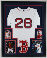 J. D. Martinez Signed Boston Red Sox 34x42 Custom Framed Jersey (Stiener COA) at PristineAuction.com