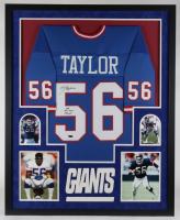 "Lawrence Taylor Signed 34x42 Custom Framed Jersey Display Inscribed ""SB XXI XXV Champs"" (TriStar Hologram) at PristineAuction.com"