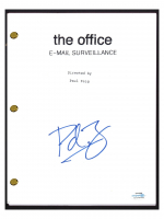 "Paul Feig Signed ""The Office: E-Mail Surveillance"" Episode Script (AutographCOA COA) at PristineAuction.com"