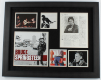 "Bruce Springsteen & The E Street Band 23x29 Custom Framed Photo Display Band-Signed by (5) including Bruce Springsteen, Steven Van Zant, Nils Lofgren Inscribed ""Steve was here"" (Beckett LOA) at PristineAuction.com"