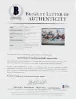 """Quarterbacks of the Century"" 22x31 LE Framed Photo Display Signed by (4) with Joe Montana, John Elway, Johnny Unitas & Dan Marino (Beckett LOA & Mounted Memories COA) at PristineAuction.com"