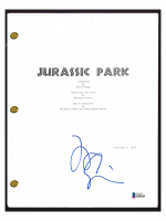 "Jeff Goldblum Signed ""Jurassic Park"" Movie Script (Beckett COA) at PristineAuction.com"
