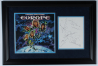 """""""Europe"""" 20x28 Custom Framed Photo Display Signed by (5) including Joey Tempest, John Norum & Mic Michaeli (Beckett LOA) (See Description) at PristineAuction.com"""