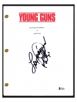 "Lou Diamond Phillips Signed ""Young Guns"" Movie Script (Beckett COA) at PristineAuction.com"